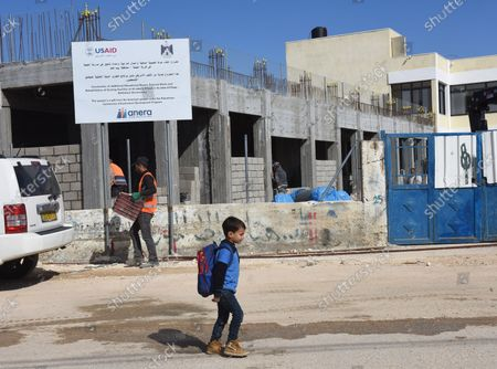 Editorial picture of Palestinians Build A School Funded By US Aid, Al-Jabba, West Bank - 23 Jan 2019