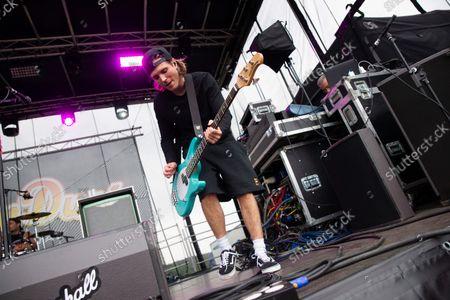 Dougie Poynter Mcfly on stage for secret set at Slamdunk Festival 2021