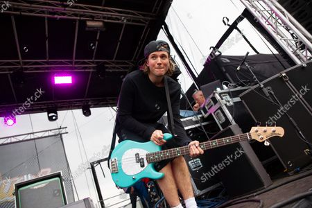 Stock Picture of Dougie Poynter, Mcfly on stage for secret set at Slamdunk Festival 2021