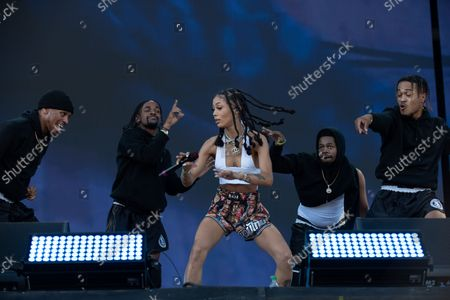Coi Leray performs at the Made in America Festival in Philadelphia, Pa. September 4, 2021