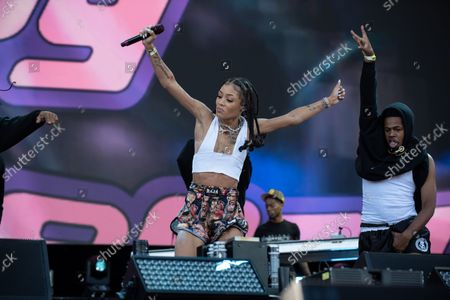 Stock Image of Coi Leray performs at the Made in America Festival in Philadelphia, Pa. September 4, 2021