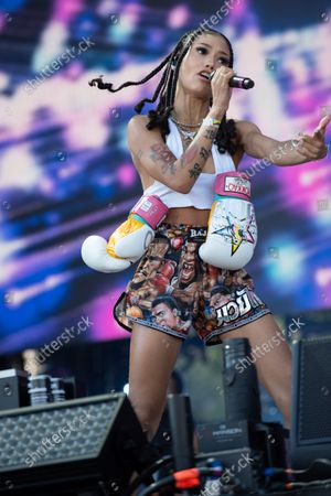 Stock Picture of Coi Leray performs at the Made in America Festival in Philadelphia, Pa. September 4, 2021