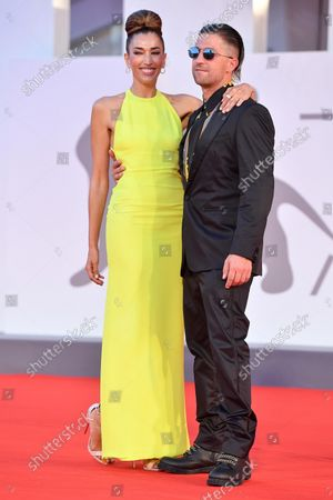 Nina Zilli (L) and Daniele Lazzarin attend the red carpet of the 'Kineo Prize' during the 78th annual Venice International Film Festival, in Venice, Italy, 05 September 2021. The festival runs from 01 to 11 September.