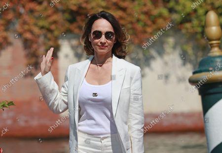 Chiara Francini arrives at the 78th Venice International Film Festival on September 5, 2021 in Venice, Italy.