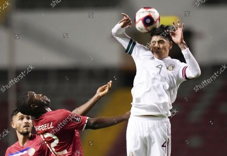 Stock Picture of Mexico's Edson Alvarez, right, and Costa Rica's Joel Campbell fight for the ball during a qualifying soccer match for the FIFA World Cup Qatar 2022, in San Jose, Costa Rica