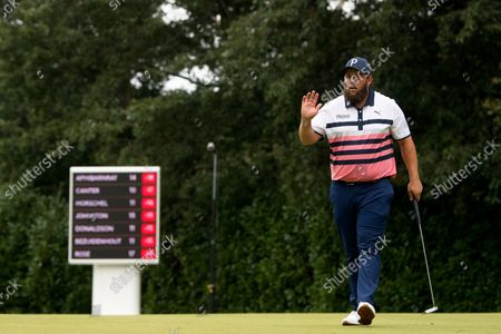 Andrew Johnston acknowledges the fans