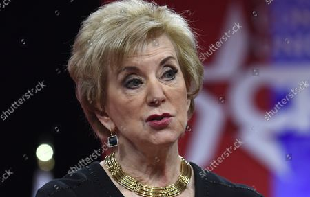 Small Business Administration (SBA) Administrator Linda McMahon makes remarks at the Conservative Political Action Conference (CPAC), February 28, 2019, in National Harbor, Maryland. Thousands of conservative activists, Republicans and Tea Party Patriots gathered to hear politicians and radio and TV hosts speak, lobby and network for the conservative cause.
