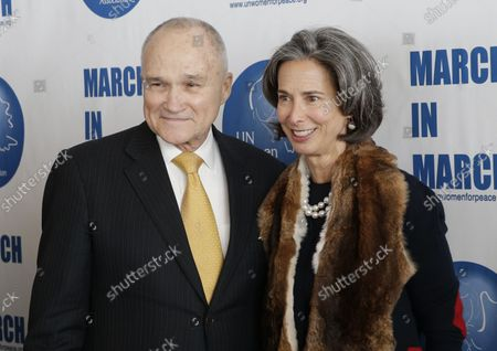 Raymond Kelly and Alice Tisch arrive on the red carpet at UN Women For Peace Association Luncheon in celebration of International Women's Day honoring Ben Stiller, Albert & Deidre Pujols, Naeem Khan and Leslee Udwin in the Delegates Dining Room at United Nations Headquarters, in New York City on March 1, 2019.