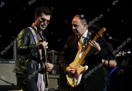 Jimmie Vaughan and Doyle Bramhall II perform at the 3rd annual God's Love We Deliver Love Rocks NYC! Benefit Concert at the Beacon Theatre in New York City on March 7, 2019. This is the 3rd benefit concert for God's Love We Deliver. The concert will support and honor the work of the cherished NYC not-for profit-organization, which is celebrating its 33rd anniversary this year.
