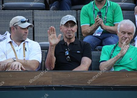 Oracle co-founder and tournament owner Larry Ellison attends the men's final match between Dominic Thiem of Austria and Roger Federer of Switzerland at the BNP Paribas Open in Indian Wells, California on March 17, 2019. Thiem defeated Federer 3-6, 6-3, 7-5 to win the championship and his first ATP Masters 1000 tournament.
