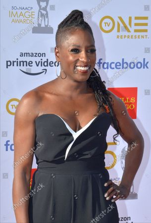 Rutina Wesley arrives for the 50th annual NAACP Image Awards at the Dolby Theatre in the Hollywood section of Los Angeles on March 30, 2019. The NAACP Image Awards celebrates the accomplishments of people of color in the fields of television, music, literature and film and also honors individuals or groups who promote social justice through creative endeavors.