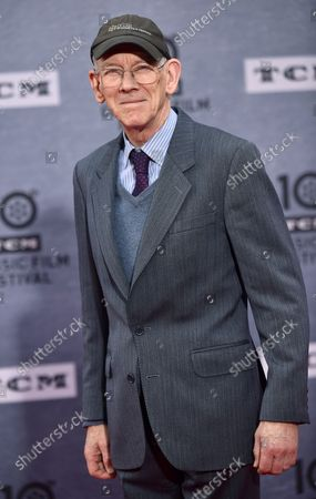 Kevin Brownlow arrives for the 10th annual TCM Classic Film Festival opening night screening of 'When Harry Met Sally' at  the TCL Chinese Theatre in Los Angeles, California on April 11, 2019.