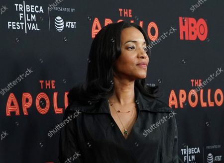 """Alice Smith arrives on the red carpet at the """"The Apollo"""" screening during the 2019 Tribeca Film Festival at The Apollo Theater on April 24, 2019 in New York City"""