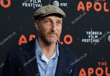 """Jonathan Ames arrives on the red carpet at the """"The Apollo"""" screening during the 2019 Tribeca Film Festival at The Apollo Theater on April 24, 2019 in New York City"""