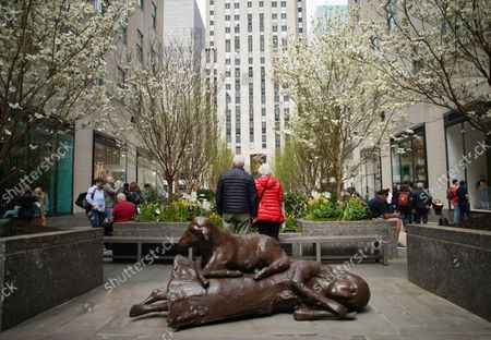 Editorial image of Inaugural Frieze Sculpture at Rockefeller Center, New York, United States - 25 Apr 2019