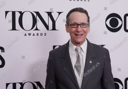 Stock Picture of Larry Hochman arrives on the red carpet at The 73rd Annual Tony Awards Meet The Nominees Press Day on May 01, 2019 in New York City.