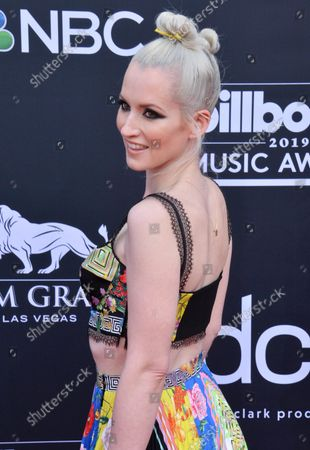 Stock Picture of Ingrid Michaelson arrives for the 2019 Billboard Music Awards at the MGM Grand Garden Arena in Las Vegas, Nevada on May 1, 2019.