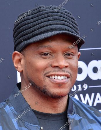 Sway Calloway arrives for the 2019 Billboard Music Awards at the MGM Grand Garden Arena in Las Vegas, Nevada on May 1, 2019.