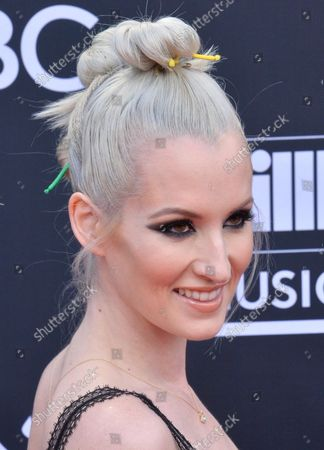 Stock Photo of Ingrid Michaelson arrives for the 2019 Billboard Music Awards at the MGM Grand Garden Arena in Las Vegas, Nevada on May 1, 2019.