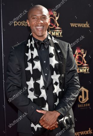 J. August Richards arrives on the red carpet for the 46th Annual Daytime Creative Arts Emmy Awards at the Pasadena Civic Auditorium in Pasadena, California on May 3, 2019.
