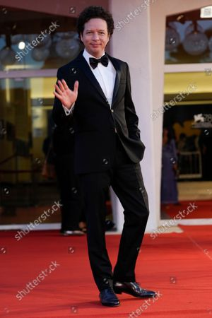 Michel Franco poses for photographers upon arrival at the premiere of the film 'La Caja' during the 78th edition of the Venice Film Festival in Venice, Italy