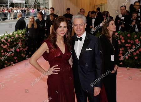 """Desiree Gruber and Kyle MacLachlan arrive on the red carpet at The Metropolitan Museum of Art's Costume Institute Benefit """"Camp: Notes on Fashion"""" at Metropolitan Museum of Art in New York City on May 6, 2019."""