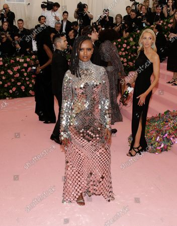"""Kelela arrives on the red carpet at The Metropolitan Museum of Art's Costume Institute Benefit """"Camp: Notes on Fashion"""" at Metropolitan Museum of Art in New York City on May 6, 2019."""