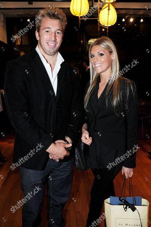 Stock Image of Chris Robshaw and Eliza Woodcock