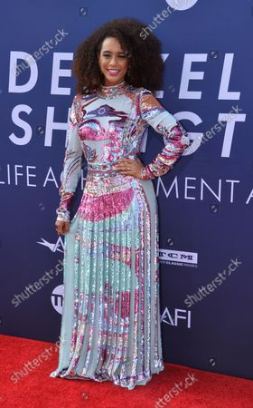 Brazilian actress Tais Araujo arrives for American Film Institute's 47th annual Life Achievement Award tribute gala to actor Denzel Washington at the Dolby Theatre in the Hollywood section of Los Angeles on June 6, 2019.