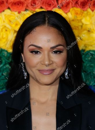 Karen Olivo arrives on the red carpet at The 73rd Annual Tony Awards at Radio City Music Hall on June 9, 2019 in New York City.