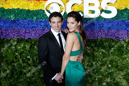 Stock Picture of Jarrod Spector and Kelli Barrett arrive on the red carpet at The 73rd Annual Tony Awards at Radio City Music Hall on June 9, 2019 in New York City.