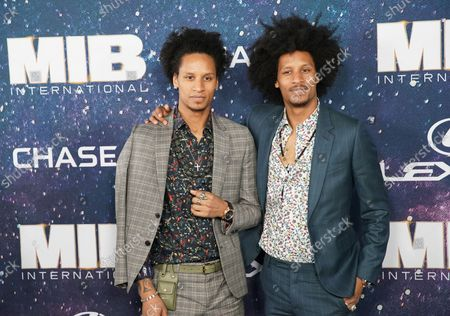 """Larry Bourgeois and Laurent Bourgeois arrive on the red carpet at the """"Men In Black International"""" World Premiere at AMC Loews Lincoln Square 13 on June 11, 2019 in New York City."""