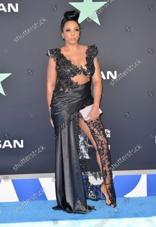 Tami Roman arrives for the 19th annual BET Awards at the Microsoft Theater in Los Angeles on June 23, 2019. The BET Awards were established in 2001 by the Black Entertainment Television network to celebrate African Americans and other American minorities in entertainment, culture and sports over the past year. The show will air live on BET beginning at 8 p.m. EST.