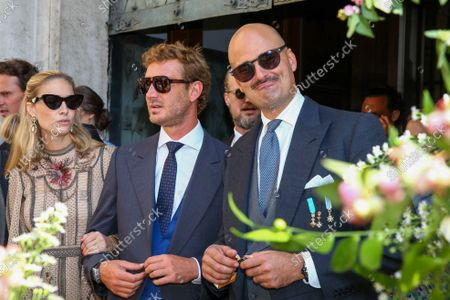 Stock Photo of Beatrice Borromeo, Pierre Casiraghi, Prince Albert of Thurn und Taxis