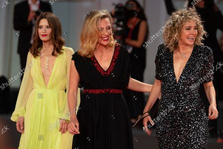 Stock Picture of Valentina Cervi, Jasmine Trinca, Valeria Golino