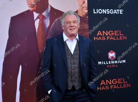 """Cast member Nick Nolte attends the premiere of the motion picture action film """"Angel Has Fallen"""" at the Regency Village Theatre in the Westwood section of Los Angeles on Tuesday, August 20, 2019. Storyline: After the events in the previous film, Secret Service agent Mike Banning finds himself framed for an assassination attempt on the President. Pursued by his own agency and the FBI, Banning races to clear his name and uncover the real terrorist threat which has set its sights on Air Force One."""