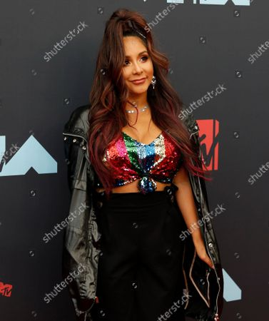 """Nicole """"Snooki"""" Polizzi arrives on the red carpet at the 36th annual MTV Video Music Awards at the Prudential Center in Newark, NJ on Monday, August 26, 2019."""