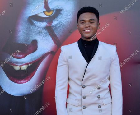 """Cast member Chosen Jacobs attends the premiere of the motion picture horror film """"It Chapter Two"""" at the Regency Village Theatre in the Westwood section of Los Angeles on Tuesday, August 26, 2019. Storyline: Twenty-seven years after their first encounter with the terrifying Pennywise, the Losers Club have grown up and moved away, until a devastating phone call brings them back."""