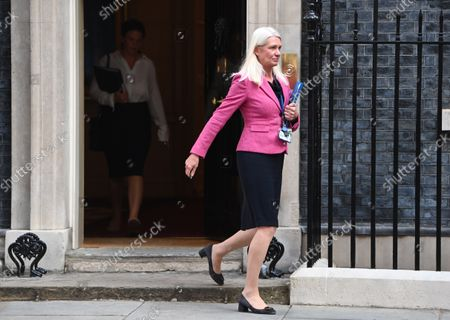 Chairperson of the Conservative Party Amanda Milling  attends political cabinet in Downing Street in London, Britain, 07 September 2021.