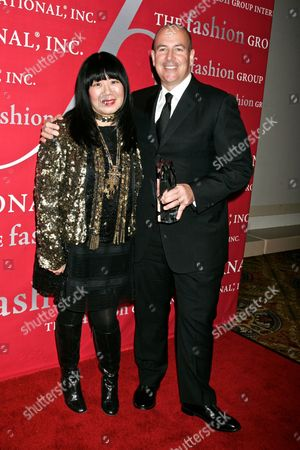 Stock Image of Anna Sui and Glen Senk