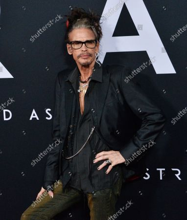 """Aerosmith lead singer Steven Tyler attends the premiere of the motion picture sci-fi thriller """"Ad Astra"""" at the ArcLight Cinerama Dome in the Hollywood section of Los Angeles on Wednesday, September 18, 2019. Storyline: Astronaut Roy McBride (Brad Pitt) travels to the outer edges of the solar system to find his missing father and unravel a mystery that threatens the survival of our planet. His journey will uncover secrets that challenge the nature of human existence and our place in the cosmos."""