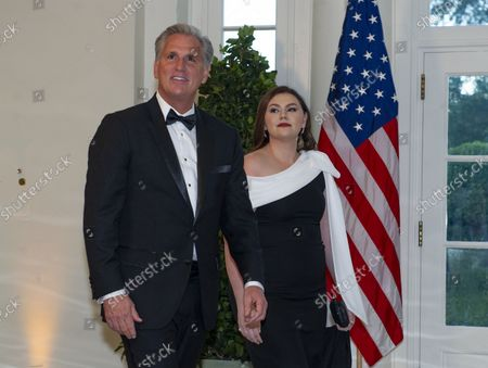 Stock Image of United States House Minority Leader Kevin McCarthy (Republican of California) and Meghan McCarthy arrive for the State Dinner hosted by United States President Donald J. Trump and First lady Melania Trump in honor of Prime Minister Scott Morrison of Australia and his wife, Jenny Morrison, at the White House in Washington, DC on Friday, September 20, 2019.