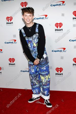 Jacob Sartorius arrives for the iHeartRadio Music Festival at the T-Mobile Arena in Las Vegas, Nevada on Saturday, September 21, 2019.