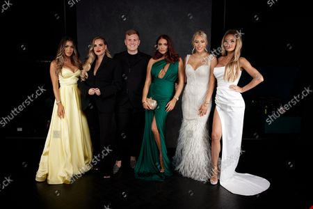 Stock Photo of Exclusive - Frankie Sims, Georgia Kousoulou, Tommy Mallet, Amy Childs, Demi Sims and Chloe Sims