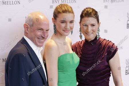 Stock Photo of Jonathan Tisch, Mason Rudnick and Lizzie Tisch arrive on the red carpet at the 8th Annual New York City Ballet Fall Fashion Gala at David H. Koch Theater in Lincoln Center on Thursday, September 26, 2019 in New York City.