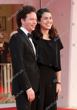 """Stock Image of Michel Franco and Erendira Larios attend the red carpet of the movie """"La Caja"""" during the 78th Venice International Film Festival on September 06, 2021 in Venice, Italy."""