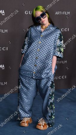 Billie Eilish attends the ninth annual LACMA Art+Film gala honoring Betye Saar and Alfonso Cuaron at the Los Angeles County Museum of Art in Los Angeles on Friday, November 2, 2019.