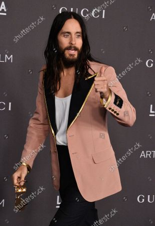 Jared Leto attends the ninth annual LACMA Art+Film gala honoring Betye Saar and Alfonso Cuaron at the Los Angeles County Museum of Art in Los Angeles on Friday, November 2, 2019.