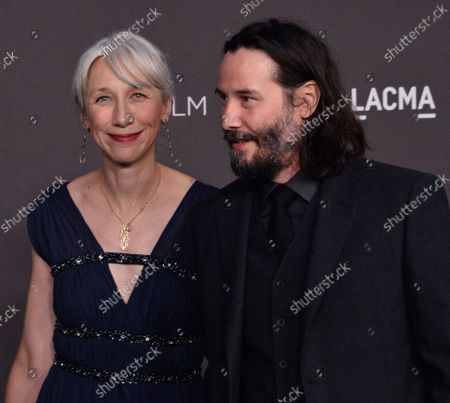 Actor Keanu Reeves and Alexandra Grant attend the ninth annual LACMA Art+Film gala honoring Betye Saar and Alfonso Cuaron at the Los Angeles County Museum of Art in Los Angeles on Friday, November 2, 2019.