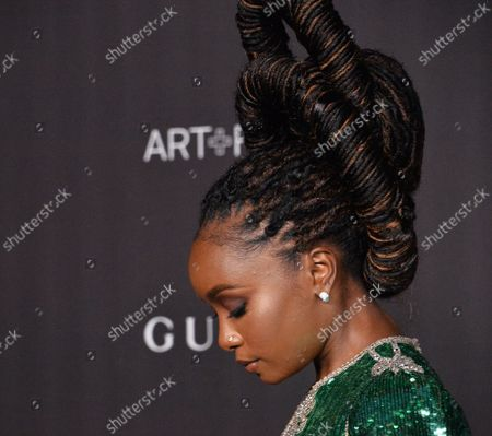 Kiki Layne attends the ninth annual LACMA Art+Film gala honoring Betye Saar and Alfonso Cuaron at the Los Angeles County Museum of Art in Los Angeles on Friday, November 2, 2019.